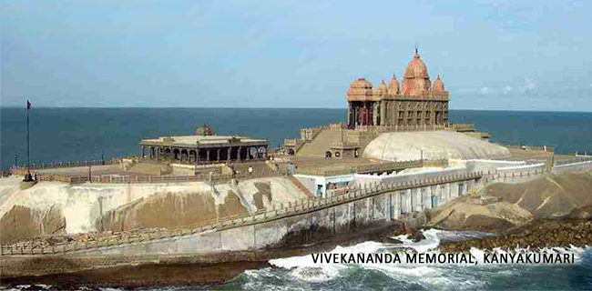 Vivekananda Memorial with Caption