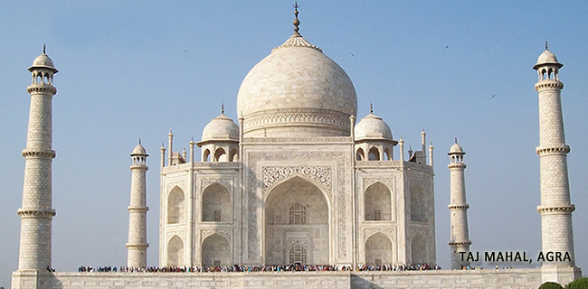 Taj Mahal with Caption