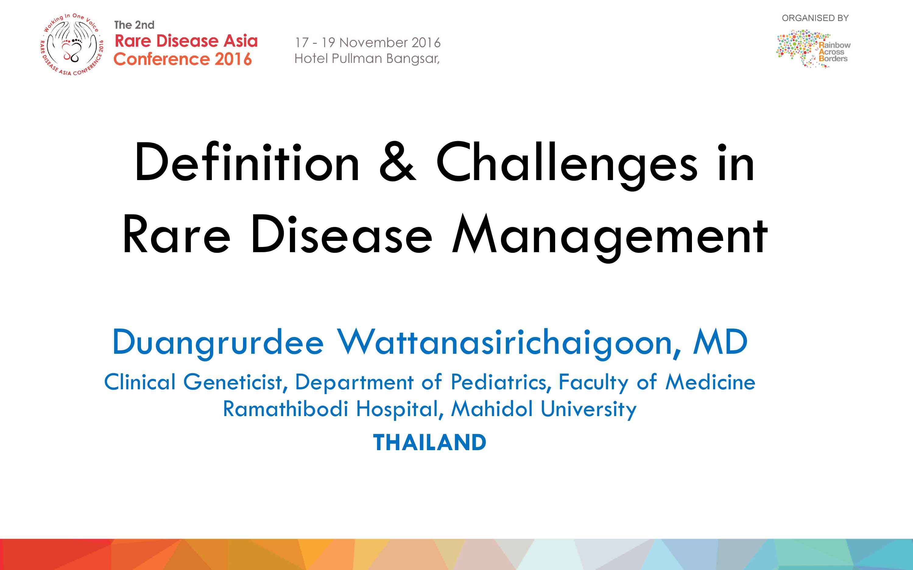 Medical Panel-Prof Duangrurdee Wattanasirichaigoon - Thailand