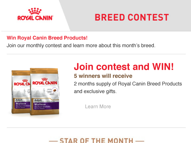 Royal Canin [Breed Contest]