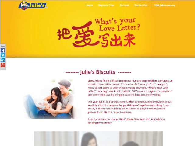 Julie's Biscuits What's Your Love Letter