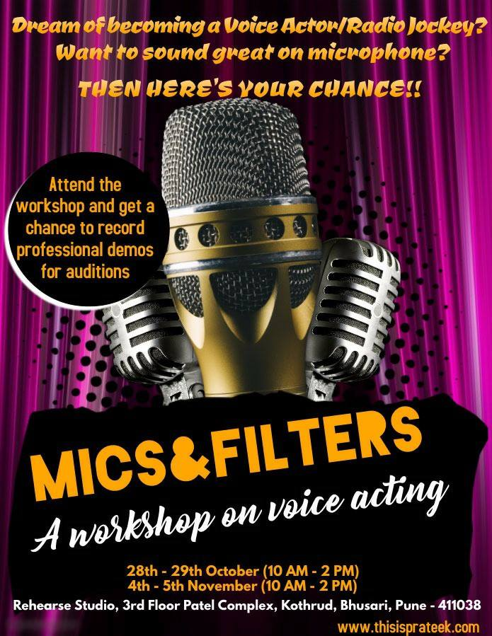 Mics & Filters - Workshop on Voice Acting, Dubbing and Public speaking
