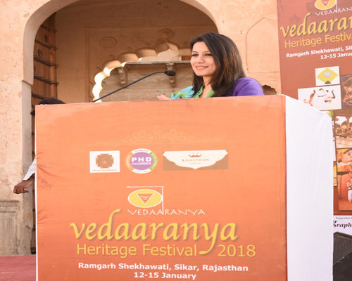 Talk on Healthy Lifestyle at Vedaaranya Heritage Festival