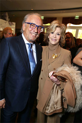 JANE FONDA AND ROBERTO COIN