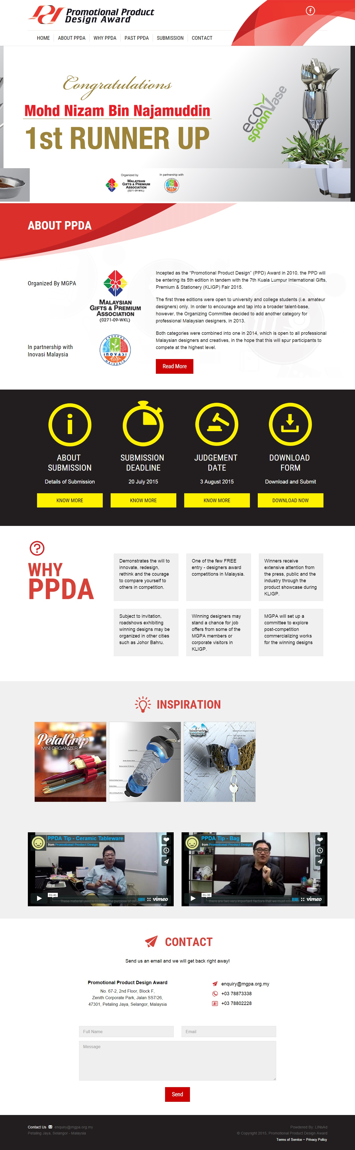 PPDA - Website Design