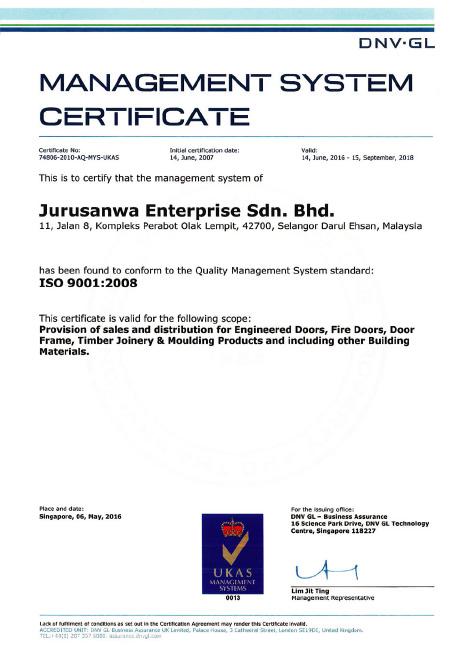 Certifications - Sandor