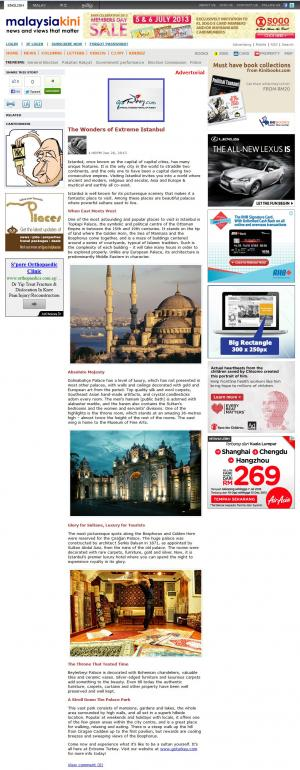 Turkish Tourism - Advertorial