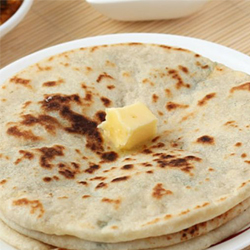WITH BUTTER CHAPATI