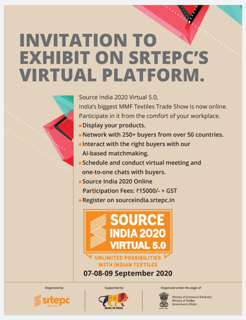 Webinar on Virtual Exhibition on 28th Aug 2020 (Friday) at 11:30 am