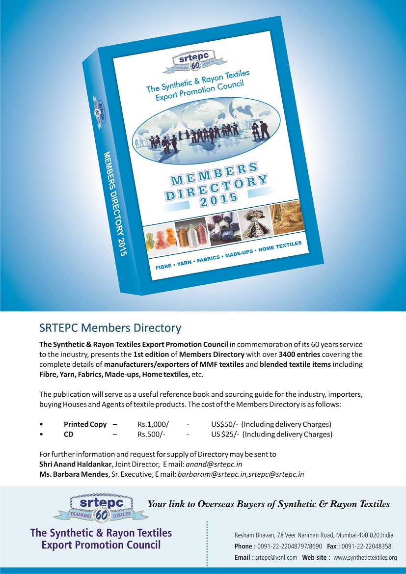 Members Directory - The Synthetic & Rayon Textiles Export