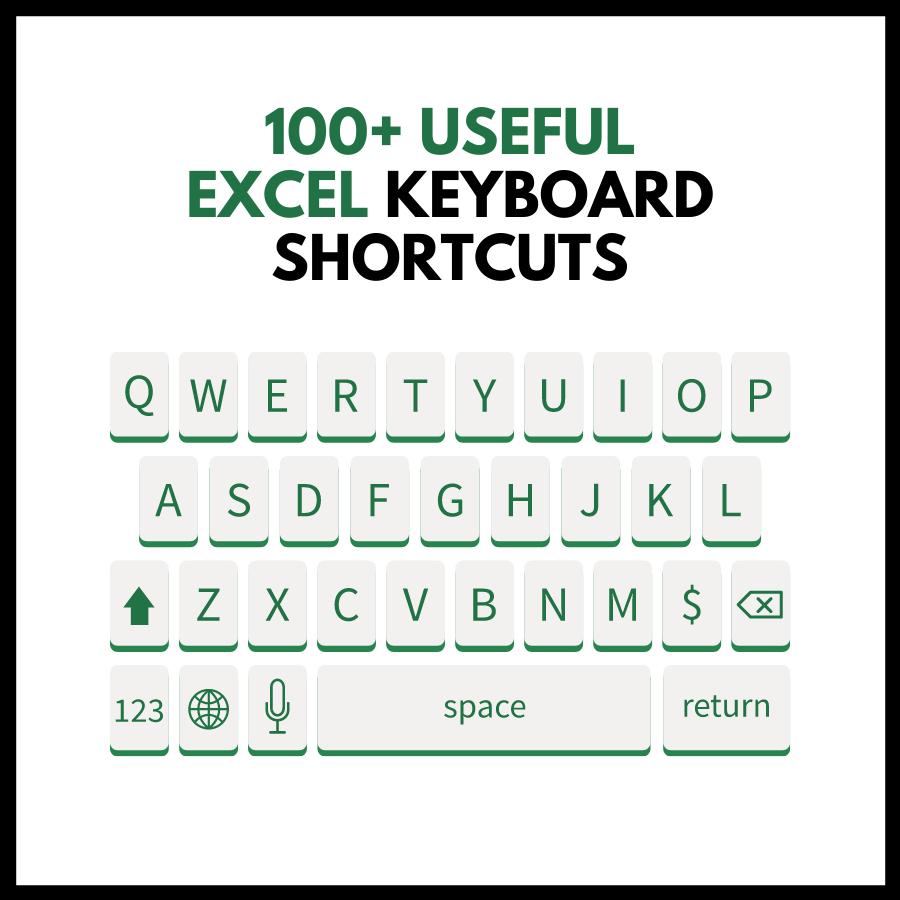 100+ Useful Excel Keyboard short cuts