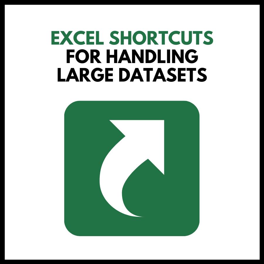 Excel Shortcuts for handling Large Datasets