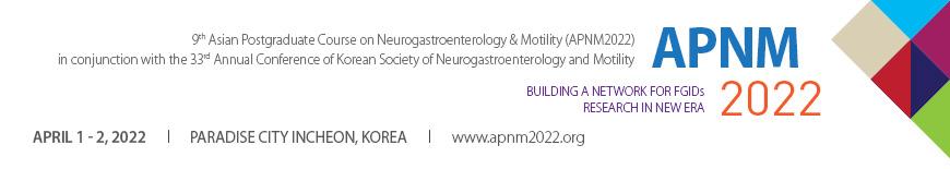 9th Asian Postgraduate Course on Neurogastroenterology & Motility (APNM 2022)