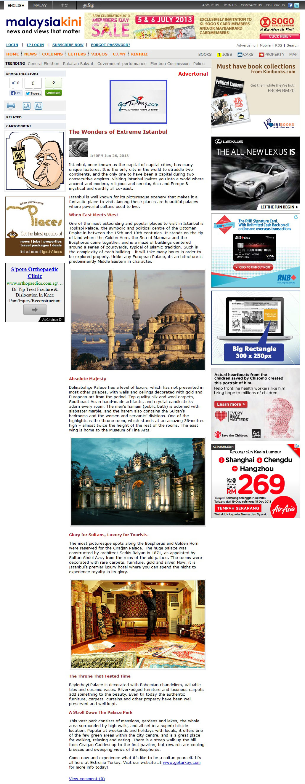 Turkey Tourism - Advertorial