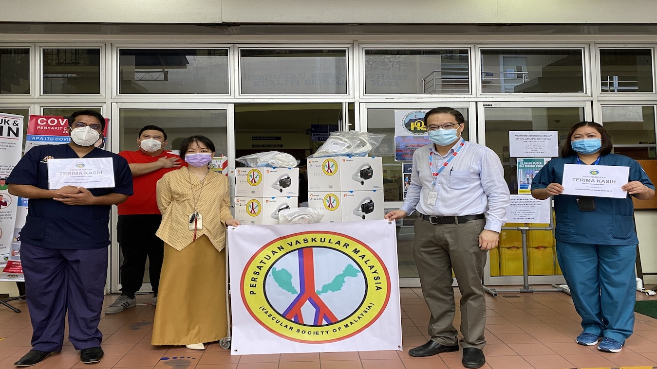 PAPRs Donation for COVID 19 Frontliners of Queen Elizabeth Hospital
