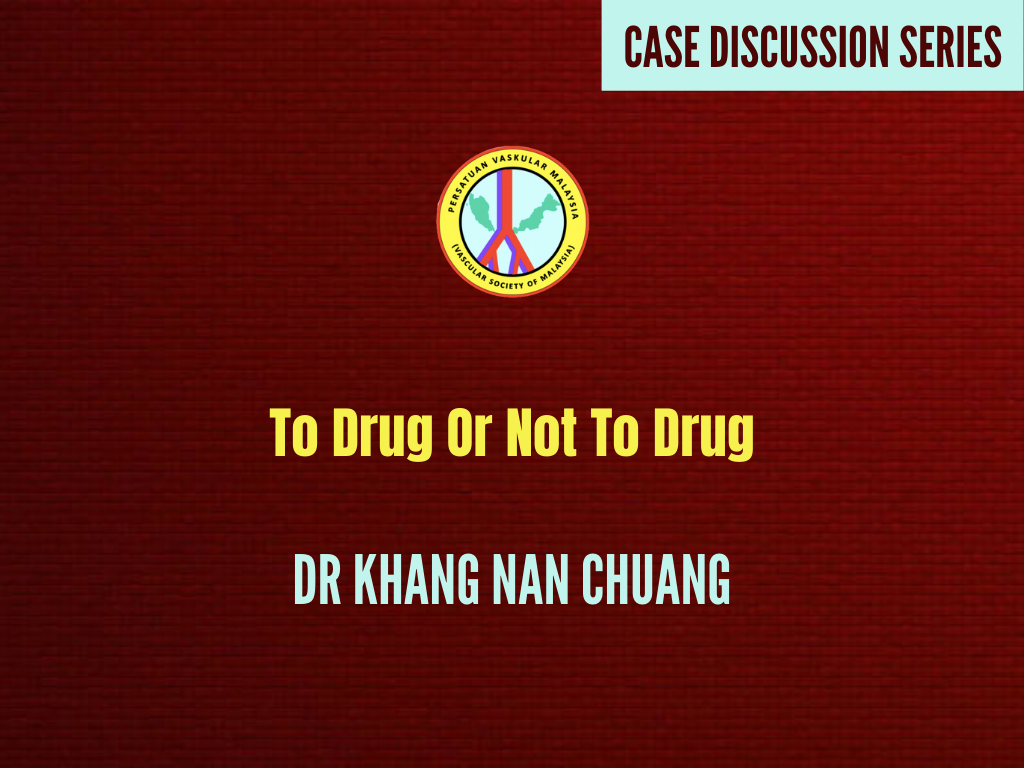 To Drug Or Not To Drug