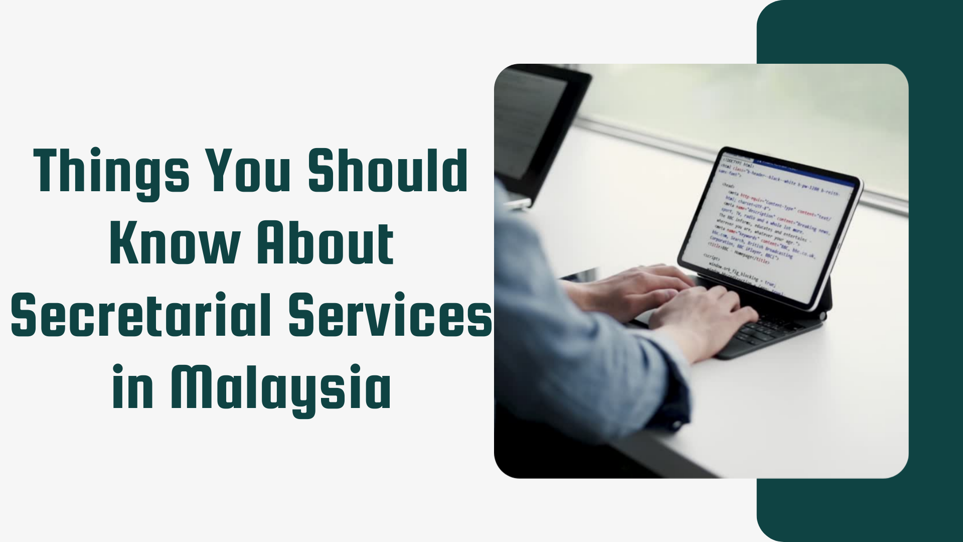 Things You Should Know About Secretarial Services in Malaysia